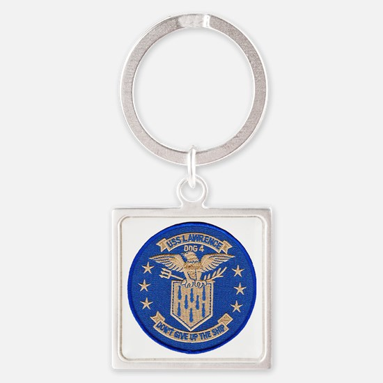 uss lawrence patch transparent Square Keychain