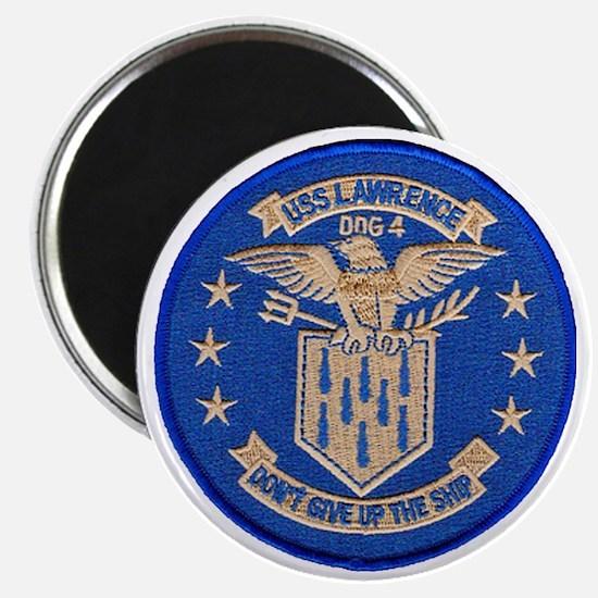 uss lawrence patch transparent Magnet