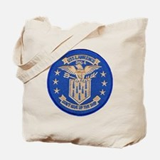 uss lawrence patch transparent Tote Bag
