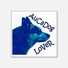 "AuCaDog Lover Square Sticker 3"" x 3"""