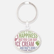 happiness Oval Keychain