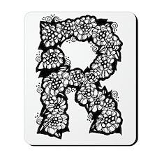 Flower Monogram R Mousepad