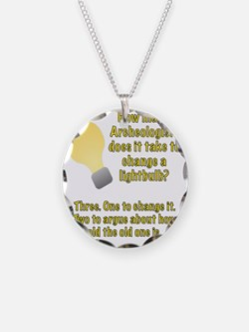 Archeologist lightbulb joke Necklace