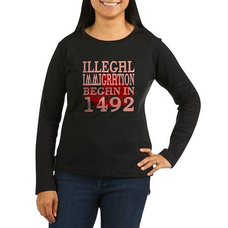 1492 Women's Long Sleeve Dark T-Shirt
