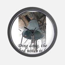 Ding dong, the wicked witch is here! Wall Clock