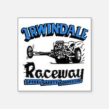 "Old Irwindale Logo Square Sticker 3"" x 3"""