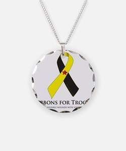 PTSD & TBI Awareness Necklace Circle Charm