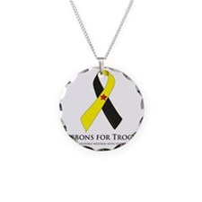 PTSD & TBI Awareness Ribbons Necklace Circle Charm
