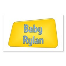 Baby Rylan Rectangle Decal
