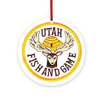 Utah Game Warden Ornament (Round)
