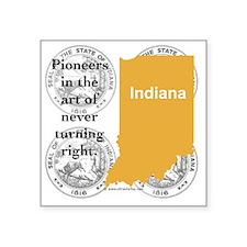 "Indiana Square Sticker 3"" x 3"""