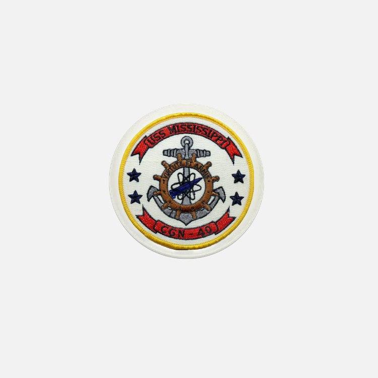 uss mississippi patch transparent Mini Button
