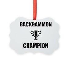 backgammon champ Ornament