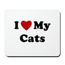 I Love My Cats Mousepad