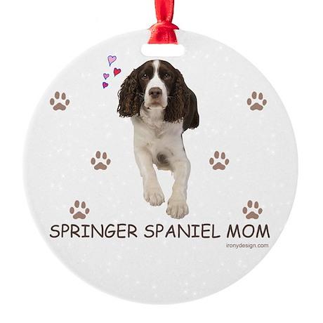 Springer Spaniel Mom Round Ornament