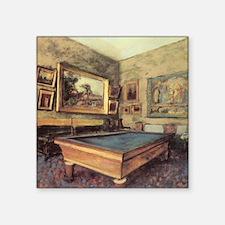 "Edgar Degas Billiard Room Square Sticker 3"" x 3"""