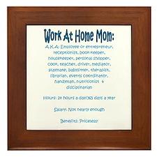 Work At Home Mom (JD) Framed Tile