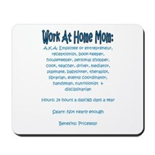 Work At Home Mom (JD) Mousepad