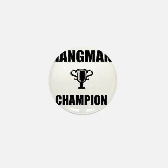 hangman champ Mini Button