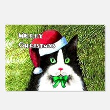 Tuxedo Merry Christmas Ca Postcards (Package of 8)
