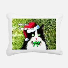 Tuxedo Merry Christmas C Rectangular Canvas Pillow