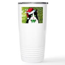 Bah Humbug Tuxedo Cat Travel Mug