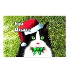Bah Humbug Tuxedo Cat Postcards (Package of 8)