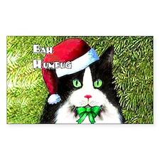 Bah Humbug Tuxedo Cat Decal