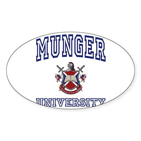 MUNGER University Oval Sticker