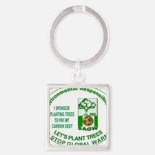 letsplanttrees2 Square Keychain