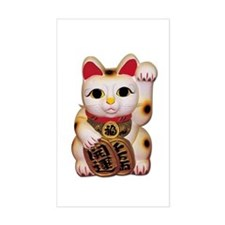 Lucky Cat Rectangle Decal