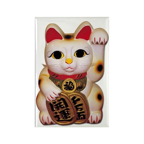 Lucky Cat Rectangle Magnet (10 pack)