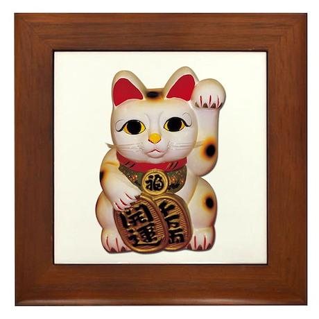 Lucky Cat Framed Tile