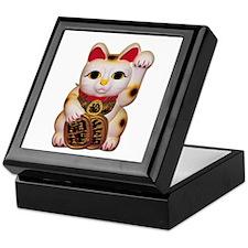 Lucky Cat Keepsake Box