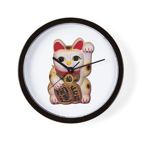 lucky cat clock