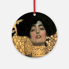 Gustav Klimt Judith Round Ornament