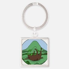 Simple South Mountain MGR logo Square Keychain