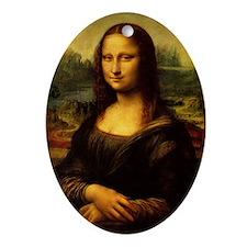Mona Lisa - Leonardo da Vinci Oval Ornament