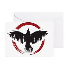 Crow Dog Farm Crow 2 Greeting Card