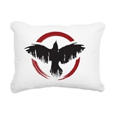 Crow Dog Farm Crow 2 Rectangular Canvas Pillow