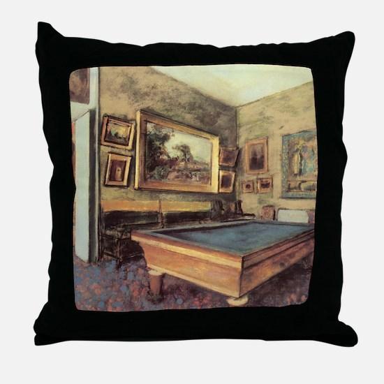 Edgar Degas Billiard Room Throw Pillow
