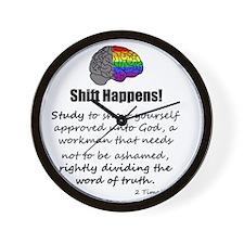 Shift Happens! - Blk Wall Clock