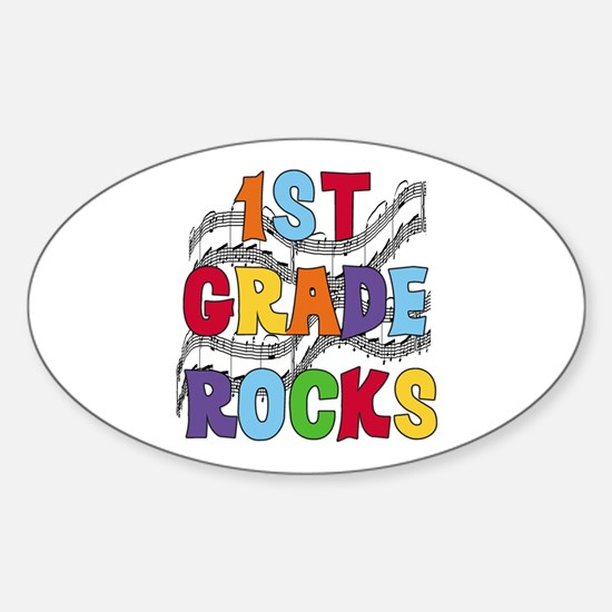 Bright Colors 1st Grade Oval Decal