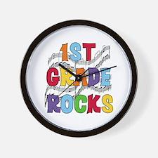 Bright Colors 1st Grade Wall Clock