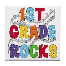 Bright Colors 1st Grade Tile Coaster