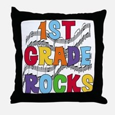 Bright Colors 1st Grade Throw Pillow