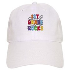 Bright Colors 1st Grade Baseball Cap