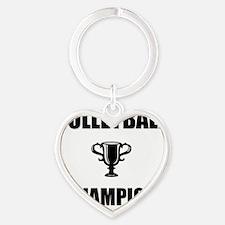 volleyball champ Heart Keychain
