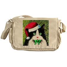 Black and White Tuxedo Cat Messenger Bag