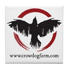 Crow Dog Farm Crow Tile Coaster